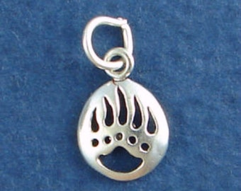 BEAR CLAW Charm .925 Sterling Silver, Native American Indian Paw, MINIATURE Small -  elp20003
