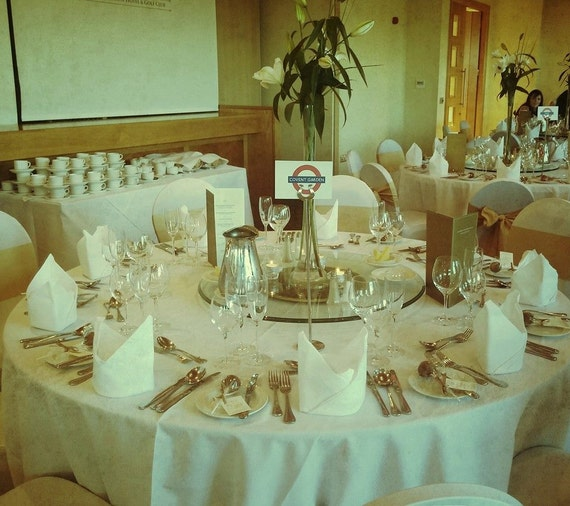 London Underground Wedding Table Plan By ZarasWeddingShop