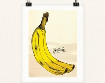 Yellow Banana 8x10 Print