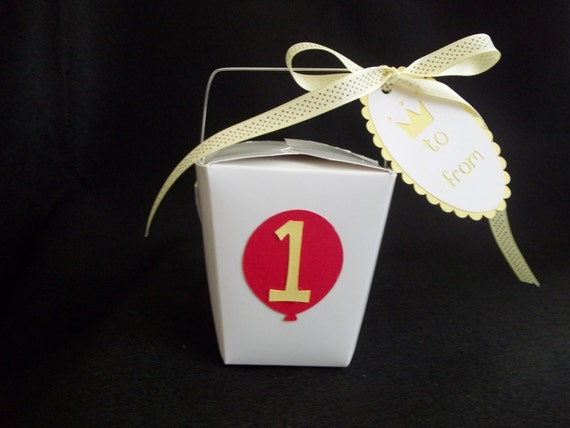 Party Favor Chinese Take Out Boxes : Birthday balloon chinese take out favor boxes party
