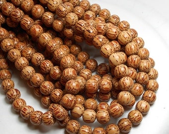 10mm Light Palm Wood Beads, 10mm Round Wood Beads, Palm Beads, Macrame Beads, Wood Beads, Wooden Beads, High Quality Wood Beads D-N04