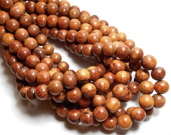10mm Bayong Wood Beads, Round Wood Beads, Red Brown Beads, Large Wood Beads, Wood Beads, Wooden Beads, High Quality Wood Beads D-N02