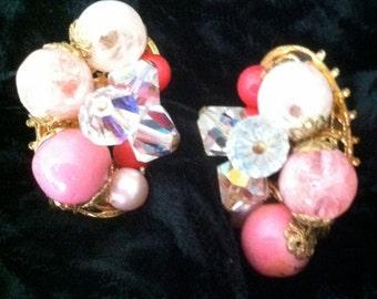 Pink Vintage Earrings