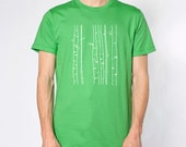 BIRCH TREE Green Mens Tshirt - Mens Tree Tshirt - BIrch Tree Design - Green Tshirt - St. Patricks Day shirt