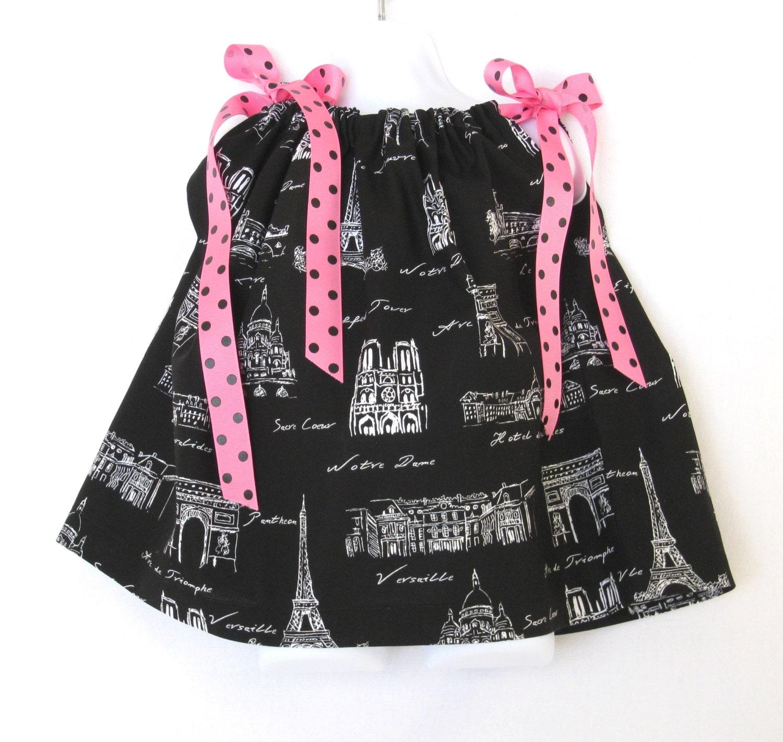 CLEARANCE 12mo Baby Girl Dress Paris Baby Girl Dress