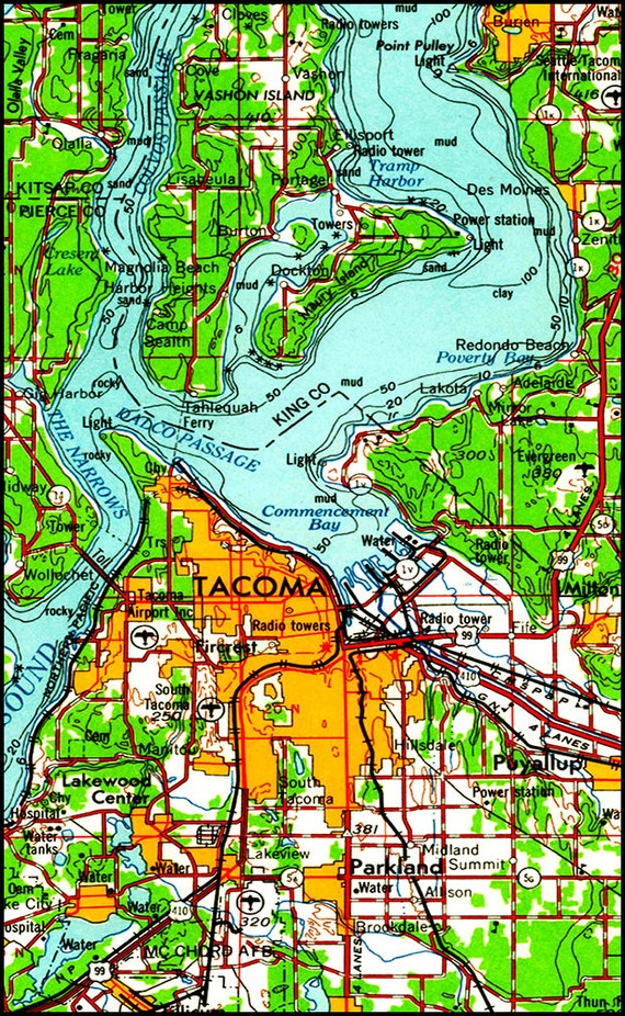 Worksheet. Seattle Map Map of Seattle Topo Map Pacific North West Map