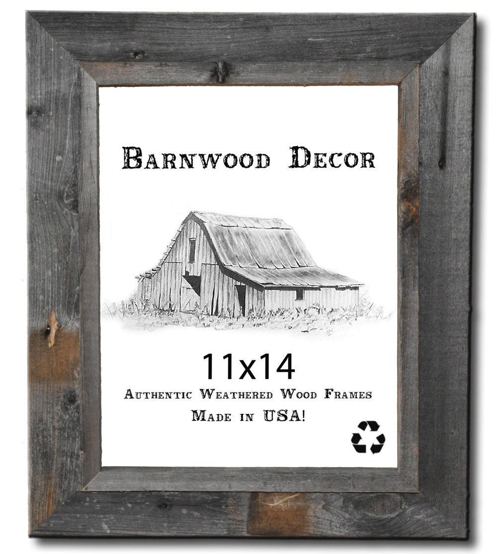 Barnwood decor rustic 11x14 authentic weathered wood frame for Barnwood decor