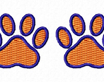 Paw print embroidery design download 4x4 hoop size
