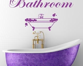Bathroom Wall Sticker Vinyl Decal Art Transfer Vintage Decoration Quote Wall Art