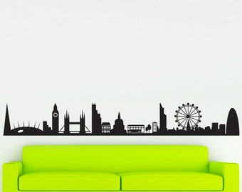 London Skyline Wall Sticker Contemporary Decal Vinyl Graphic Wall Transfer Wall Art Decoration