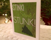 Stink, Stank, Stunk! (The Grinch-inspired), 4.25x5.5 quarter-fold greeting card, printable, digital