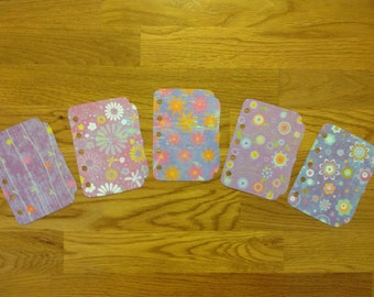 Victorian Style Planner Dividers - Mini Size, not tabbed