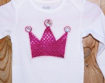 Princess Crown with Jewels Onesie