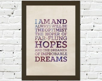 0073 Dr Who Quote A3 Wall Art Print Multiple Sizes