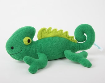 Chameleon handmade stuffed toy