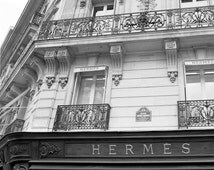 """Street Photography in Paris - """"Hermes Boutique"""" (Black & White) – Fine Photograph Art Prints"""