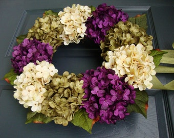 WREATHS | Spring Wreaths | Front Door Wreaths | Hydrangea Wreath | Summer Wreaths | Outdoor Wreaths | Fall Wreaths | Front Porch Decor