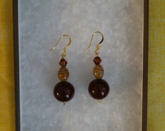 Stylish Brown Dangle Earrings