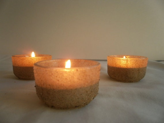 Nautical tea lights wedding candles beach by