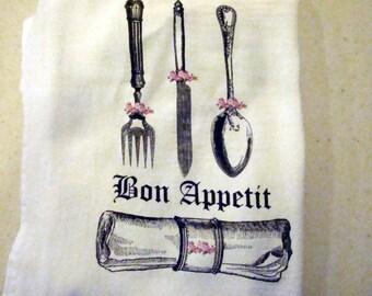 Kitchen Flour Sack Towel (Bon Appetit)