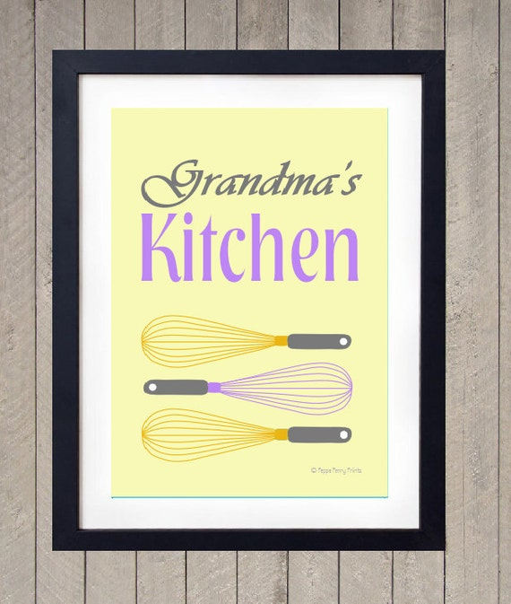 Kitchen Print Kitchen Wall Art Purple Kitchen Decor Gratitude: Unavailable Listing On Etsy