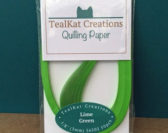 Lime Green Quilling Paper