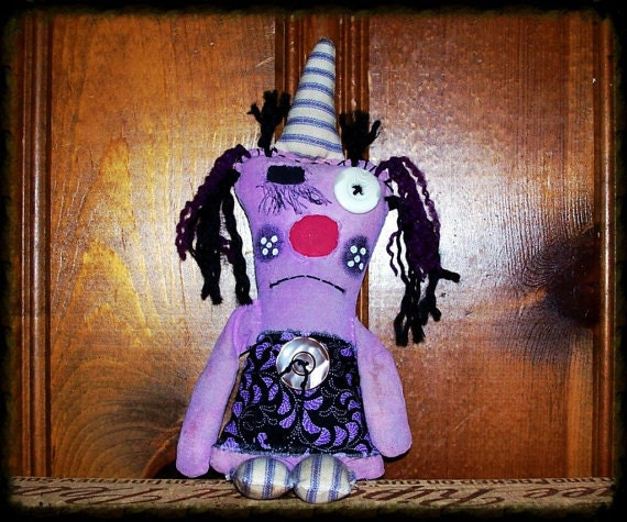 Primitive Whimsy Whimsical Folk Art Witch Art Doll AWD#1512