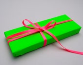 Neon Green Wrapping paper pack – Neon Green Gift Wrap – 2 Sheets