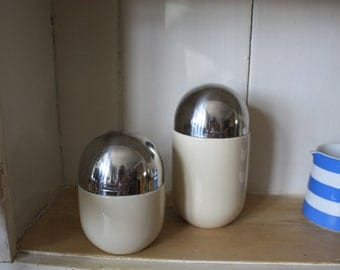 Pair of Retro Storage Jars by Typhoon