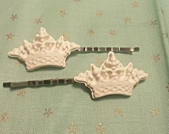 Clay Crown Bobby Pins