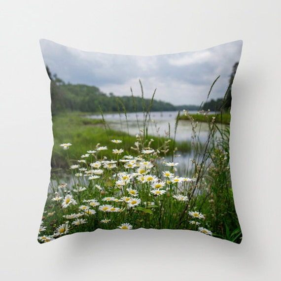 Nature Photo Pillow, Boundary Waters, River Landscape, Photo Pillow Cover, Wildflower Photo, Indoor Decor, Outdoor Pillow Cover, Photography