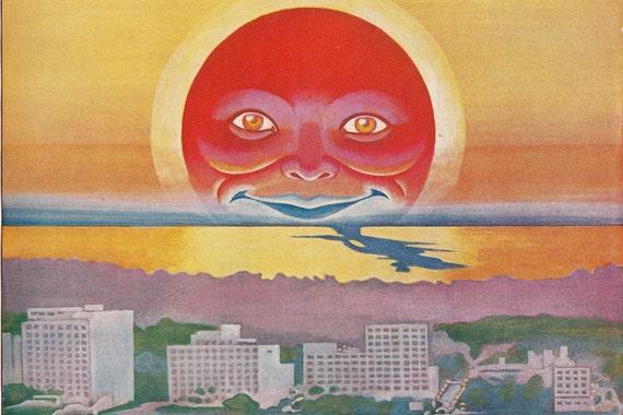 Vintage Ad Fantasy Sun Skyline  4 x 6  Print Set of Six Mix and Match #51