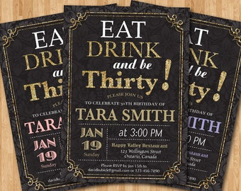 ... 40th 50th 60th Any Age Birthday invites. Women birthday party