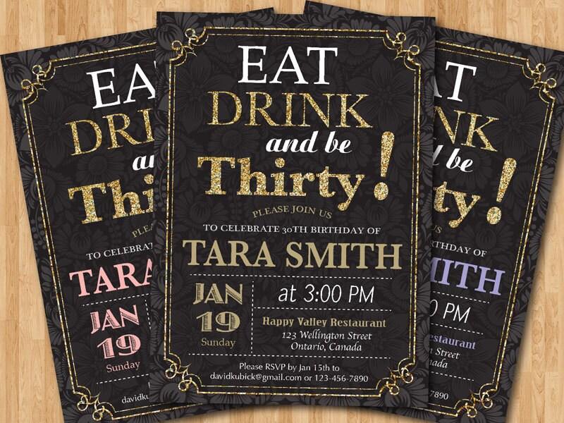 30th birthday invite – Thirtieth Birthday Invitations
