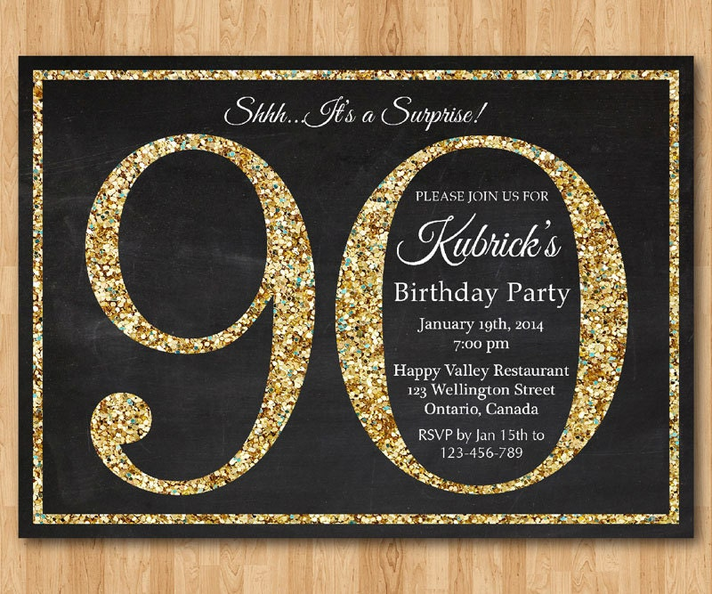 Selective image intended for free printable 90th birthday invitations