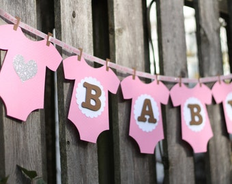 Baby Shower Banner - girl / pink