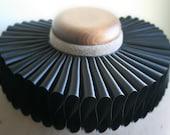 Black Satin Elizabethan Ruff Collar