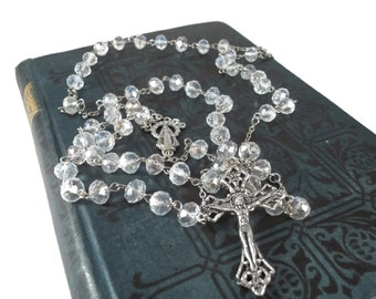 Clear Crystal Rosary