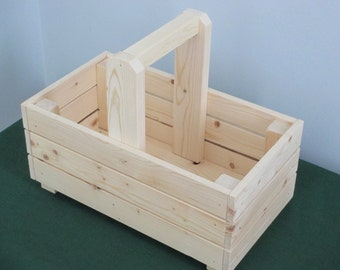 Wood Crate Basket