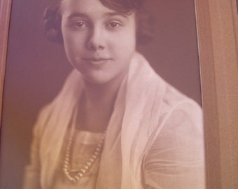 Vintage Photo Of Beautiful Young Woman - Professional Portrait Of Pretty Girl!!