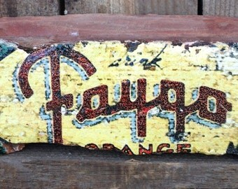 "Detroit Clippert Brick - circa 1907 -  ""Faygo Orange"" mural art."