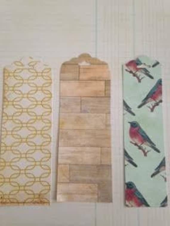 Handmade shabby chic bookmarks (set of 3)
