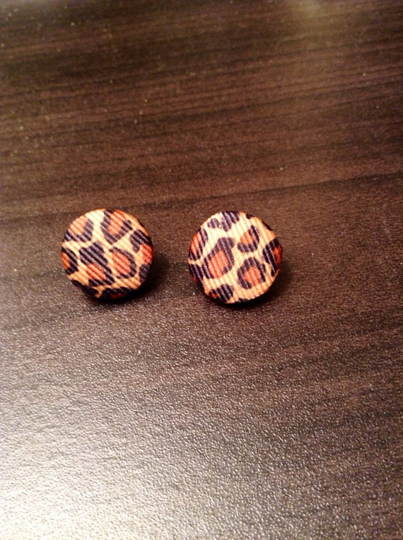 Cheetah Print Stud Earrings