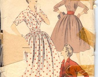 Advance 7812 UNCUT 1950's  Ladies Dress Sewing Pattern ID497