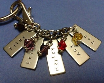 Names I Love, Mother's personalized keychain purse charm