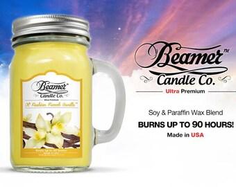 12oz Ol' Fashion French Vanilla Jar (Beamer Candle Co) Made In USA
