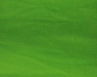 Solid Lime Green Fleece Fabric By The Yard