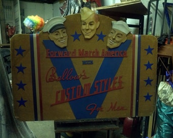 Vintage American Military Shoe Store Advertising Display