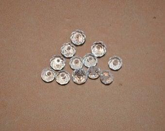 12 - 5040 - 6mm Genuine Swarovski Crystal Bead Rondels - Clear