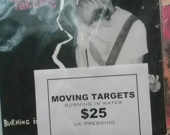 Moving Targets Burning In Water  UK Press  LP